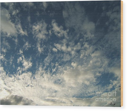 Scattered Clouds Wood Print by Margaret McDermott