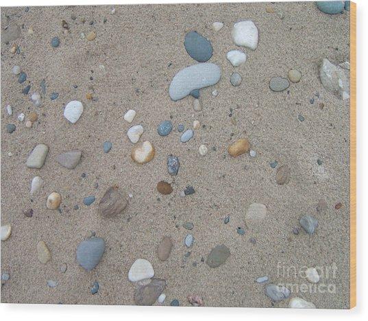 Scattered Pebbles Wood Print by Margaret McDermott