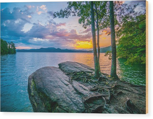Scenery Around Lake Jocasse Gorge Wood Print