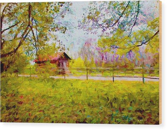 Scenery Series 03 Wood Print