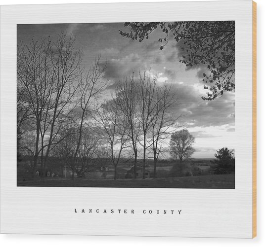 Scenic Lancaster County Wood Print