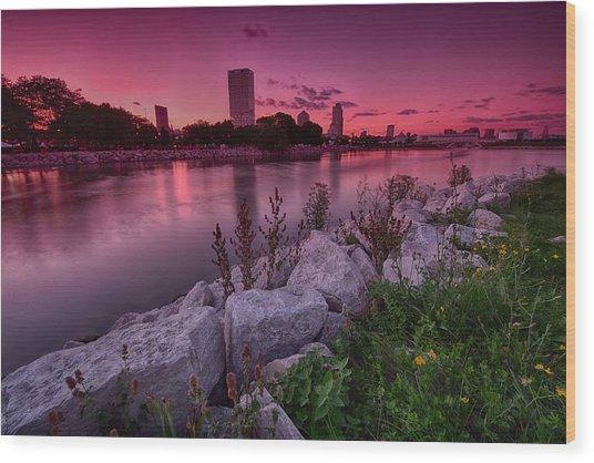 Scenic Sunset Wood Print