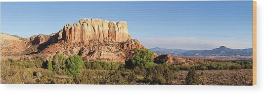 Scenic View Of Ghost Ranch, Abiquiu Wood Print