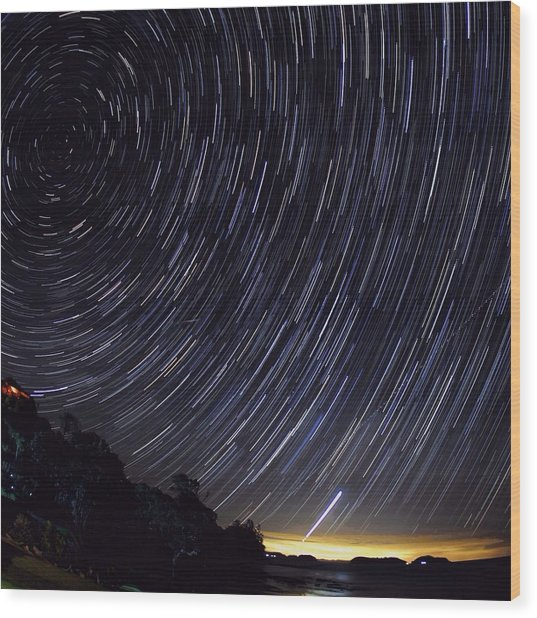Scenic View Of Night Sky Wood Print by Brent Purcell / Eyeem