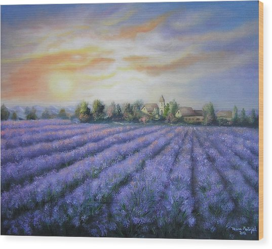 Scented Field Wood Print