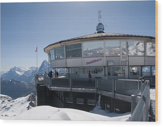 Schilthorn Wood Print by David Yack
