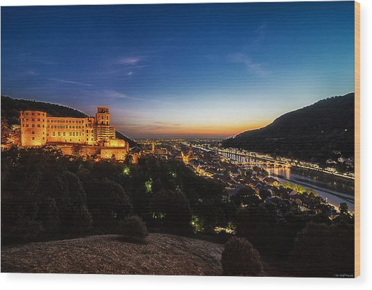 Wood Print featuring the photograph Schloss Heidelberg by Ryan Wyckoff