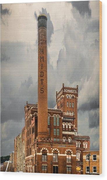 Schmidt Brewery Wood Print