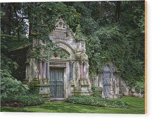 Schofield Crypt Wood Print