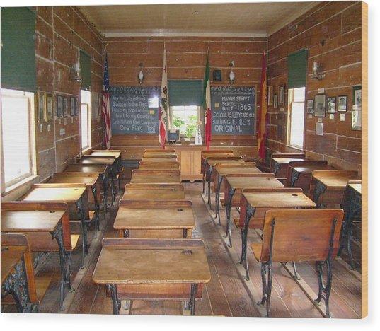 School House Wood Print