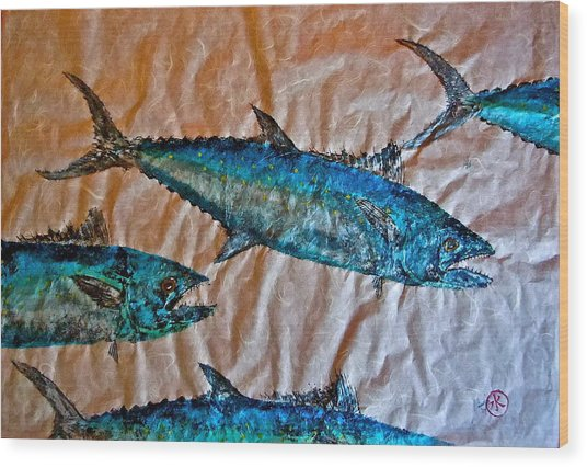 School Of Mackerel - Spanish Invasion Wood Print