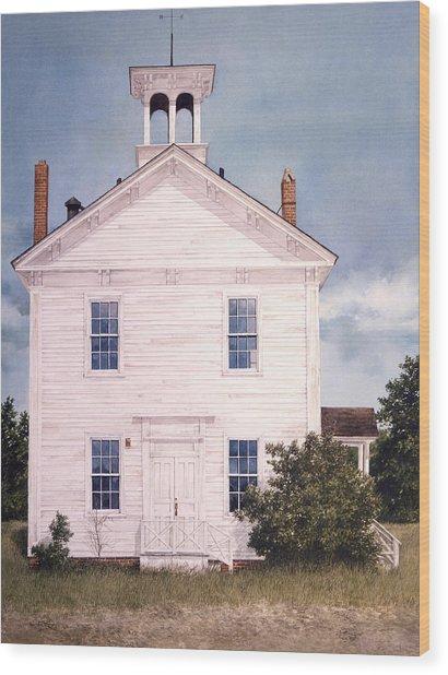 Schoolhouse Wood Print