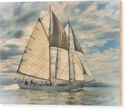 Schooner 101a Wood Print