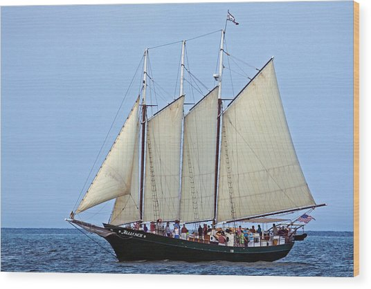 Schooner Alliance Wood Print
