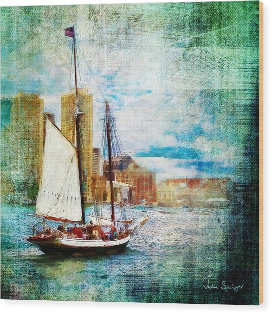 Schooner Bay Wood Print