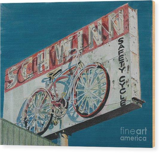 Schwinn Safety Cycle Wood Print