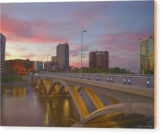 Scioto Morning 50526 Wood Print