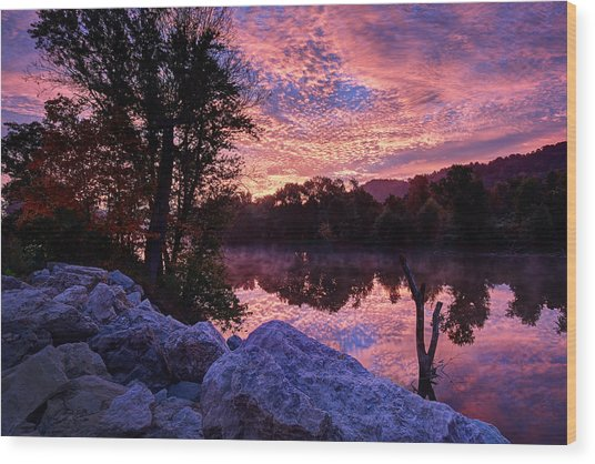 Scioto Sunrise Wood Print