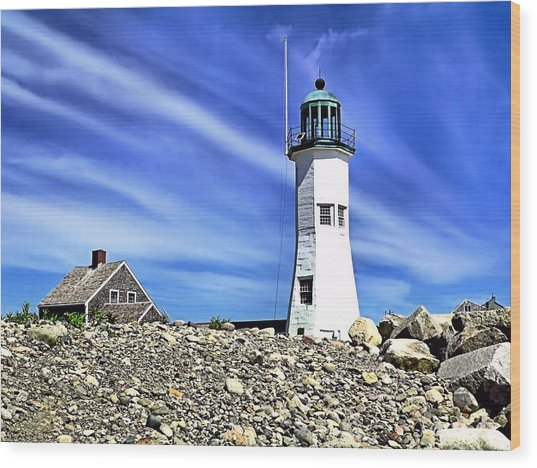 Scituate Lighthouse Wood Print