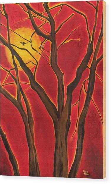 Scorpio Sun By Jaime Haney Wood Print