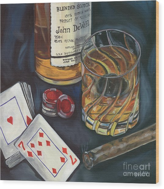 Scotch And Cigars 4 Wood Print