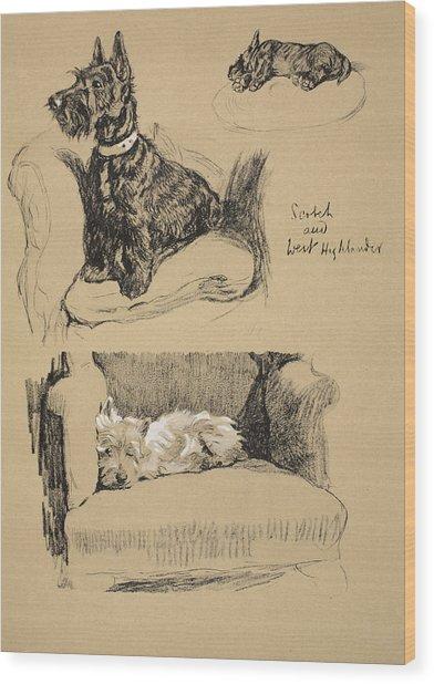 Scotch And West Highlander, 1930 Wood Print