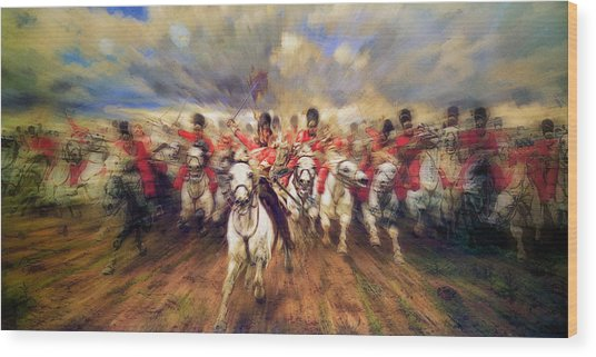 Scotland Forever During The Napoleonic Wars Wood Print
