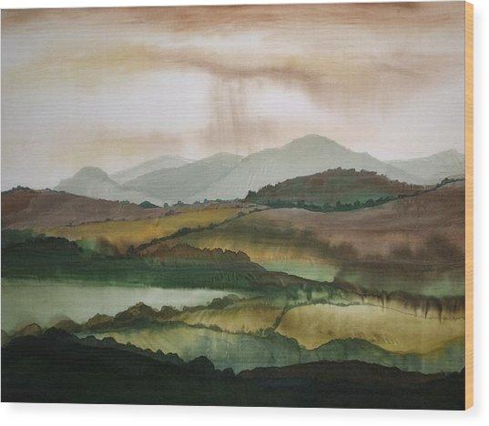 Scottish Hills Wood Print