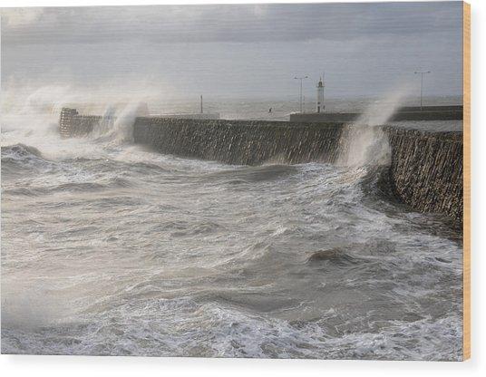 Scottish Sea Storm Wood Print