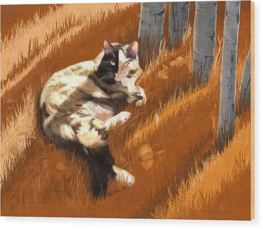 Scout In Autumn Wood Print