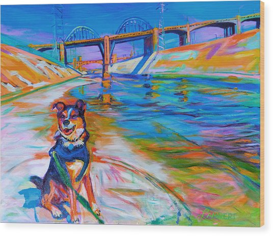 Scout The River Guard Wood Print