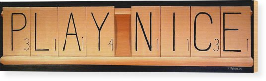 Scrabble Wood Print
