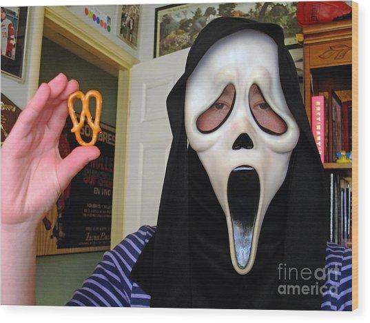 Scream And The Scream Pretzel Wood Print