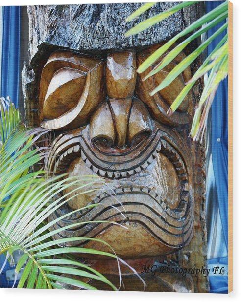 Screaming Tiki  Wood Print