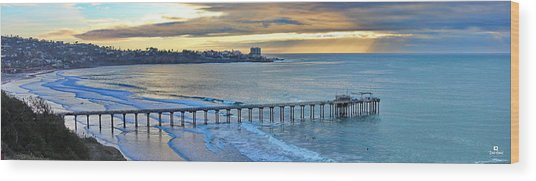 Scripps Pier - To The Point Wood Print