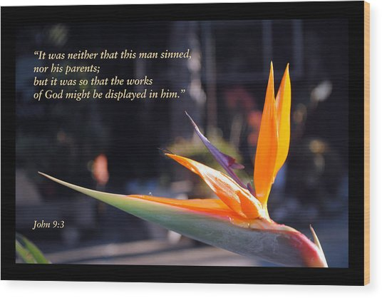 Scriptures Of Comfort 2 Wood Print