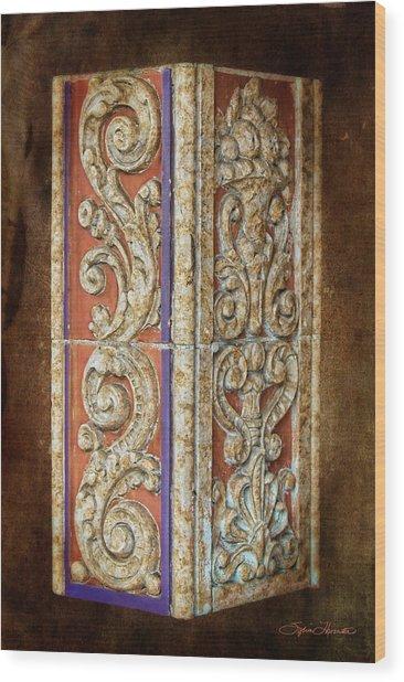 Scrolled Column Wood Print