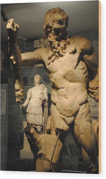Sculpture Through Sculpture -  Zeus And Trajan  Wood Print by Jacqueline M Lewis