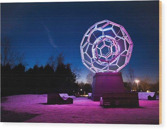 Sculptures Of Light - Crystal Bridges Art Museum Wood Print