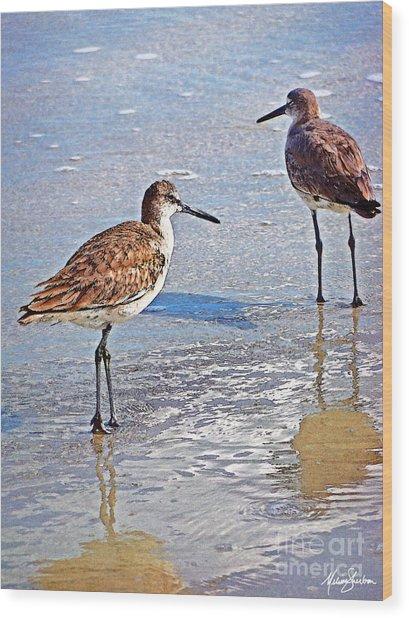 Sea Birds No.4 Wood Print