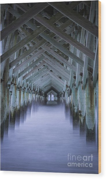 Sea Cathedral Wood Print