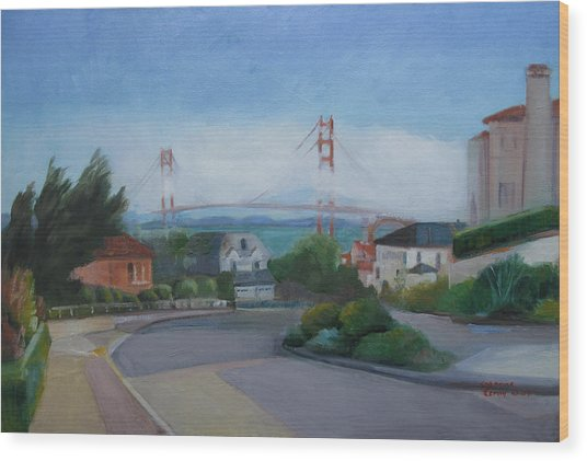 Sea Cliff Area San Francisco  Wood Print