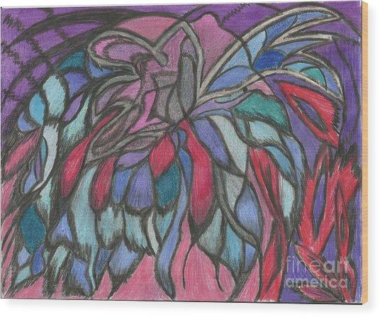 0044 Sea Flower Wood Print by Essel Emve