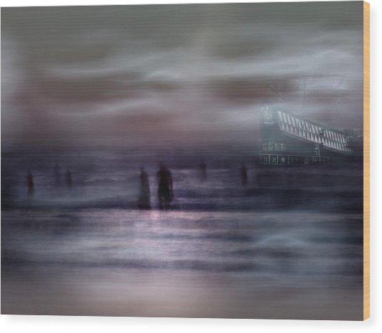 Sea Ghosts Wood Print