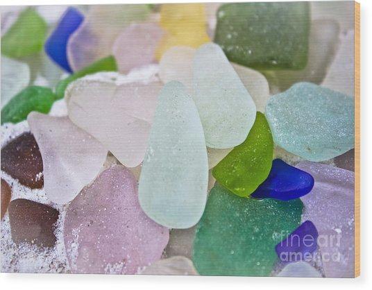 Sea Glass Wood Print