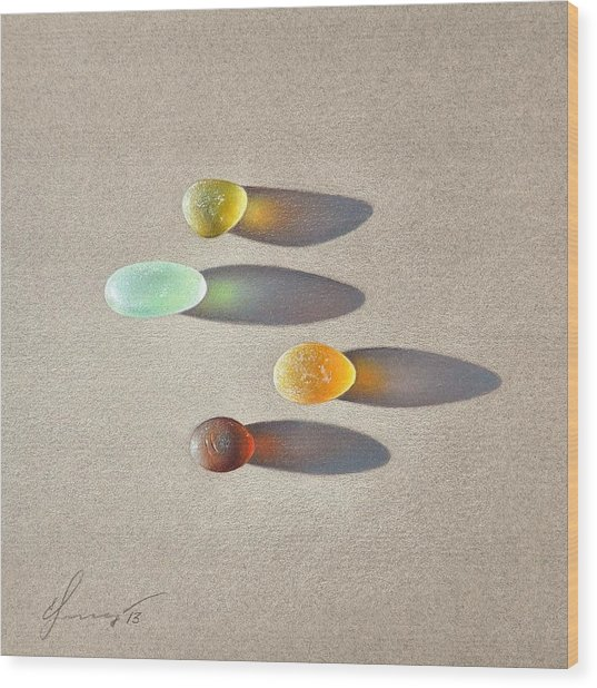 Sea Glass - The Race Wood Print