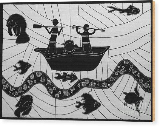 Sea Hunt Wood Print
