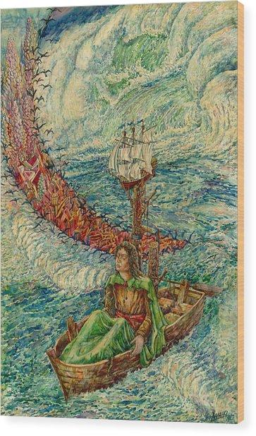 Sea Journey Wood Print