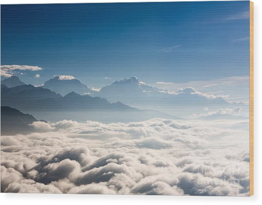 Sea Of Clouds Wood Print