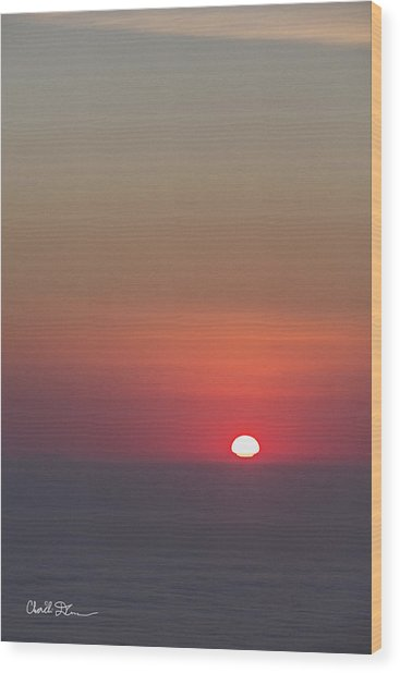 Sea Of Clouds Sunset Wood Print